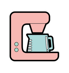 Cute coffe maker graphic design vector