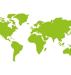 Earth icon green continents design vector