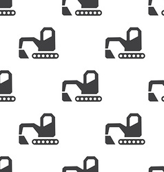 excavator seamless pattern vector image vector image