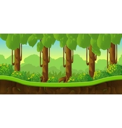 Fantasy landscape game background with vector