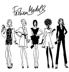 Fashion models vector