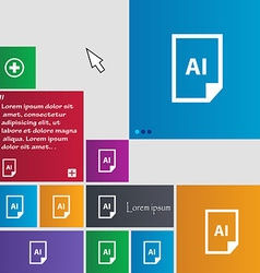 File ai icon sign buttons modern interface website vector