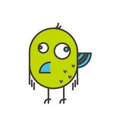 Funny crazy bird vector
