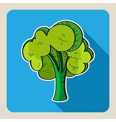Hand drawn green tree vector image vector image