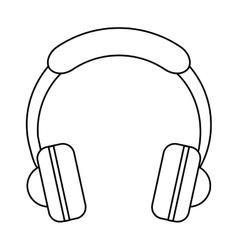 Headphones music listen mobile outline vector