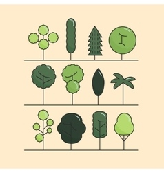 Modern flat trees set tree icons set tree vector image vector image