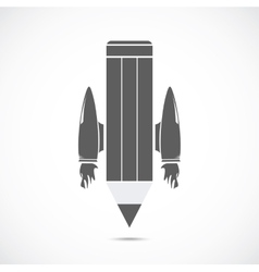 Pencil with jet engines vector