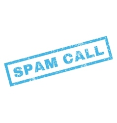 Spam call rubber stamp vector