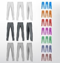 Sport sweatpants set vector