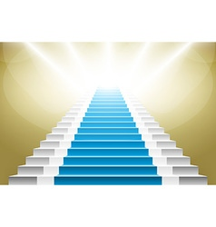 Staircase with blue carpet stairs with a blue vector