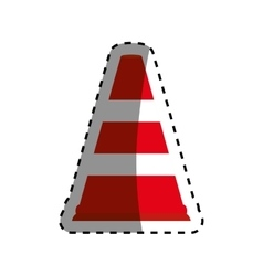 Traffic cone isolated vector