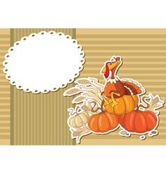 turkey sticker background vector image