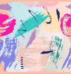 universal memphis hand drawn seamless pattern vector image