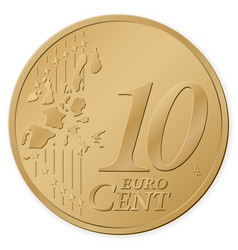 10 euro cent vector image