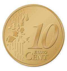 10 euro cent vector