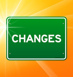 Changes green sign vector