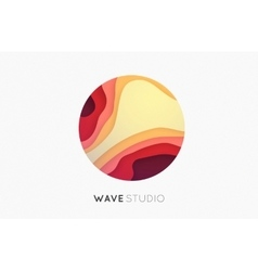 Wave logo business icon color logo company logo vector