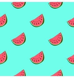 Colorful seamless pattern of watermelon vector
