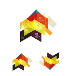 Abstract paper geometric infographic templates vector