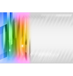Abstract shape rainbow vector