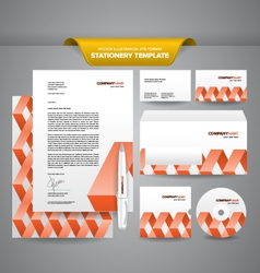 Stationery template zigzag vector