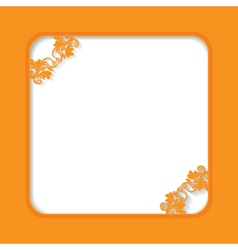 Orange frame vector