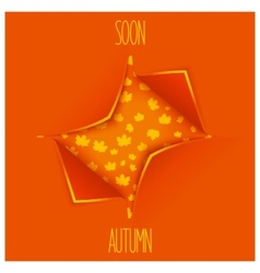 Creative autumn design vector