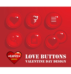 Love Buttons Design vector image