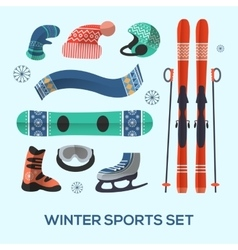 Winter sports design elements set winter sports vector