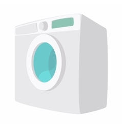 Washing machine cartoon icon vector image