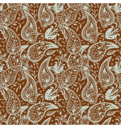 Seamless pattern in two colors paisley design vector