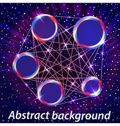 abstract space background with metal circles vector image