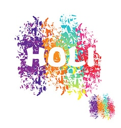Holi celebration color stain from brush logo for vector