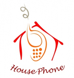 house phone vector image