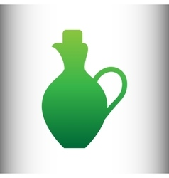 Amphora sign green gradient icon vector
