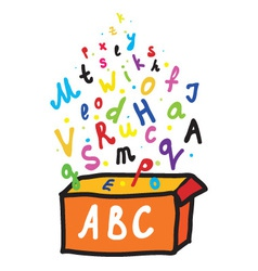 Alphabet box vector