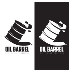 Barrel of black oil vector