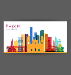 Bogota colorful architecture vector
