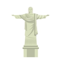 christ corcovade brazil icon vector image vector image