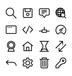 Crisp internet icons vector