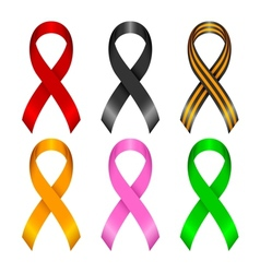 Different ribbons vector