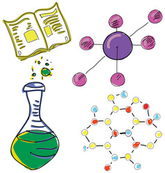 Drawn picture with chemistry stuff vector