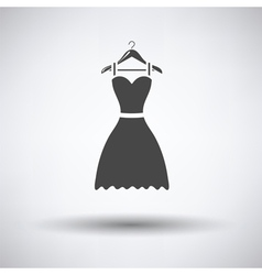 Elegant dress on shoulders icon vector image vector image