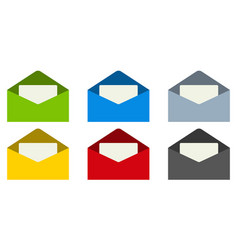 Email mail envelope with letter inside set vector