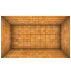 Empty futuristic room with orange walls vector
