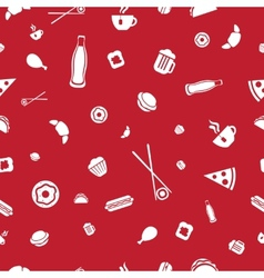 Food icons seamless pattern vector image