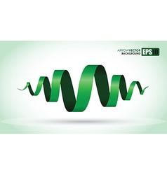 green spiral vector image vector image