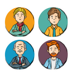 hand drawn people design vector image