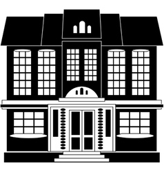 House in classical style vector image vector image