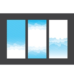 Nature background blue sky and cloud element 004 vector image